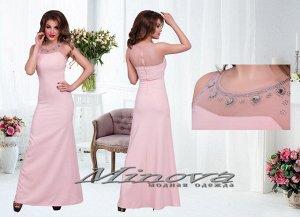 Платье №3070-пудра