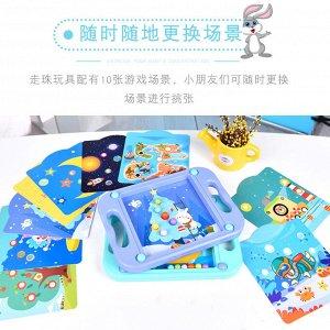 Детская игра поймай шарик + 10 сменных карточек
