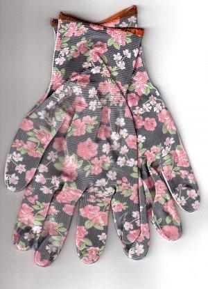 Перчатки Перчатки рабочие нейлоновые  13 класс вязки,  с нитрильным обливом,  СУПЕР ЛЮКС -   ПЕРЧАТКИ САДОВЫЕ,  8 размер