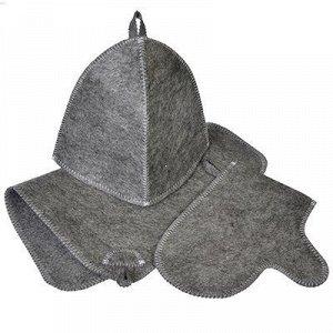 Набор банный 3 предмета с ковриком