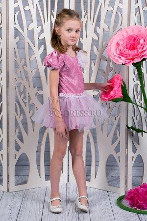 Платье Нарядное платье из люрекса, атласа и сетки. Подклад хлопок. Молния по спинке. Бант пристегивается. *** На фото девочка рост 132 см, платье размер 34 *** Замеры платья р.28-ОГ 30*2, длина от пле