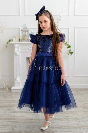 Платье Нарядное платье с пышной многослой6ной юбки. Верх из материала с переворачивающимися пайетками. В комплекте идет ободок с бантом. Сзади платья завязывается на роскошный бант из таких же пайеток