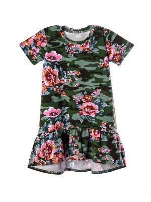 Платье 892А7 серо-розовый