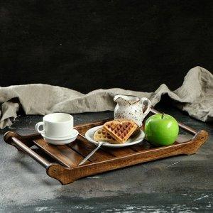 """Поднос для завтрака """"Ренессанс"""", цельный массив ясеня"""