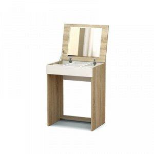 Столик туалетный Эксон 550х426х720 дуб сонома/белый