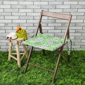 Подушка на стул уличная Геометрия, 45?45 см, репс с пропиткой ВМГО, 100% хлопок