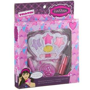 Подарочный набор для девочек Корона тени и помада Bondibon EvaModa
