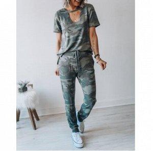 Костюм: футболка+брюки, камуфляж
