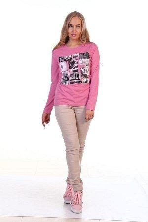 Лонгслив женский 1307-013 розовый