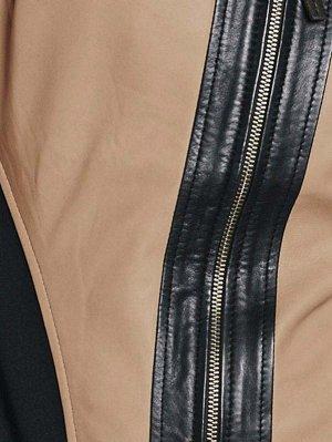 Кожаная куртка, песочная