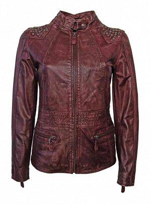 Кожаная куртка, бордовая