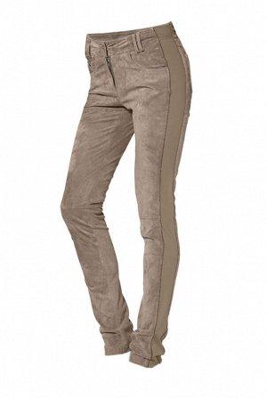 Кожаные брюки, песочные