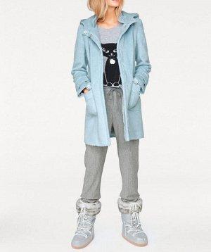 Пальто, голубое