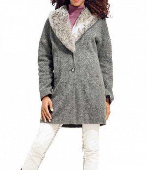 Пальто, серое