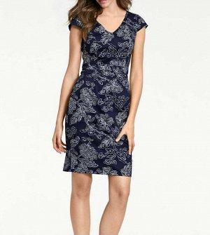 Платье, сине-серебристое