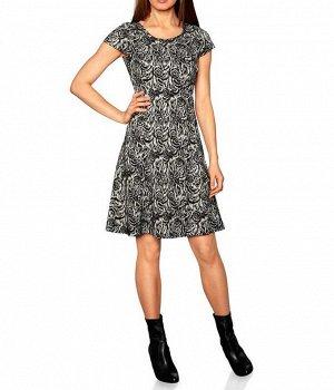 Платье, черно-бежевое