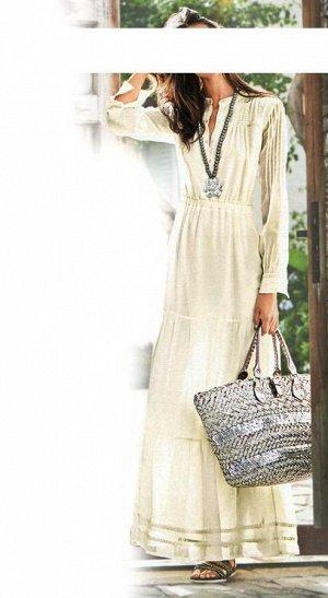 Платье, кремовое