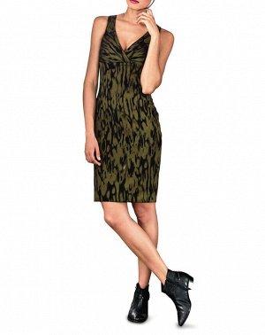 Платье, хаки-черное