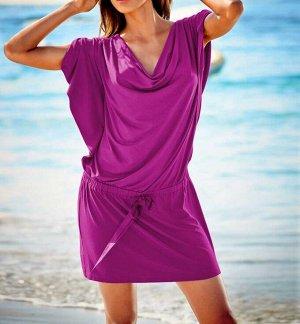 Пляжное платье, малиновое
