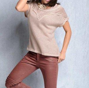 Пуловер и топ, розовые