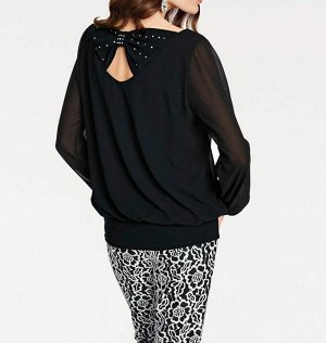 Блузка, черная