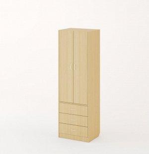 Шкаф (1уп+ДВП), Белёный дуб