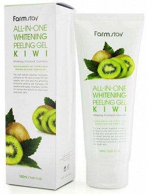 "KR/ FarmStay All-In-One Whitening Peeling Gel Kiwi Скраб-Пилинг ""Киви"", 180мл"