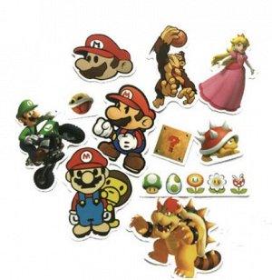 "Наклейки ПВХ водонепроницаемые-""Super Mario Bros(Марио)"""