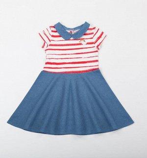 Batik Платье д/д 00083_BAT р.104 джинс красный/синий