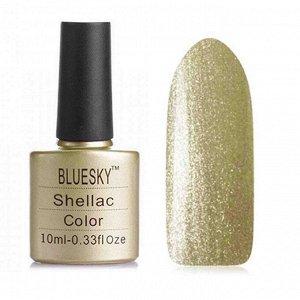 Гель-лак Bluesky №182 желто-золотые микроблестки на прозрачной основе, плотный, 10 мл
