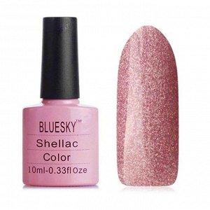 Гель-лак Bluesky №189/142 на прозрачной подложке пепельно-розового цвета, с голографическими микроблестками, 10 мл