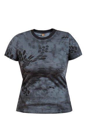 """Женская футболка """"питон' (чёрный)"""