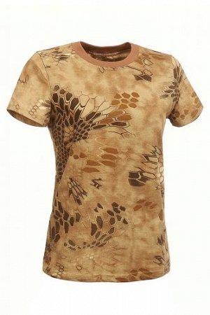 """Женская футболка """"питон"""" (коричневый)"""