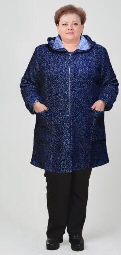 """Пальто """"Даша"""" - рябь синее"""