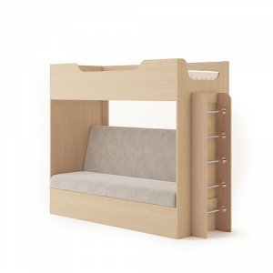 Кровать двухярусная с диваном (2уп) (Белёный дуб)