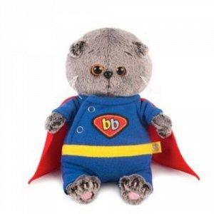 Игрушка мягкая Басик в костюме супермена ,20 см.