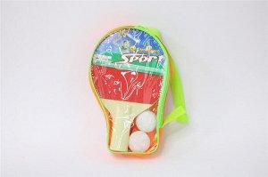 Набор для настольного тенниса (ракетки,2 шарика), в чехле
