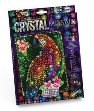 Набор креативного творчества Crystal Mosaic Попугай 28*28см