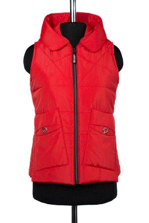 04-2259 Куртка демисезонная (синтепон 100) Плащевка красный