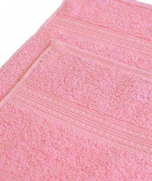 Полотенце махровое 380 г/кв.м 70х140 ТМ Маруся светло-розовый AST