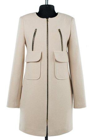 01-07968 Пальто женское демисезонное Пальтовая ткань пудра