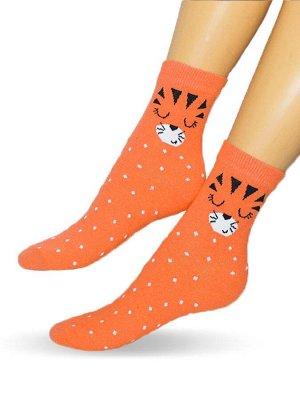 Женские носки-носочки 1932 размер 23-25 оранж