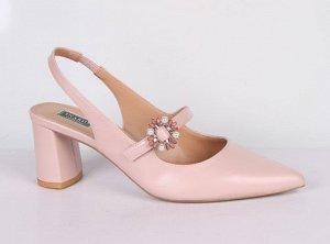 9B1010А-03-19-8 розовый (Иск.кожа/Иск.кожа) Туфли летние открытые женские 8п