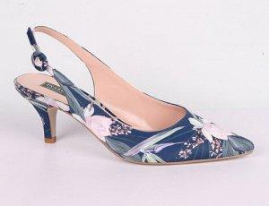 9B1010-01-8А-8 синий (Т/Иск.кожа) Туфли летние открытые женские 8п