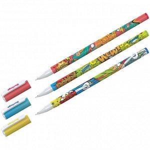 """Ручка шариковая Berlingo """"Funline. Hype"""" синяя, 0,7мм, рисунок на корпусе, ассорти"""