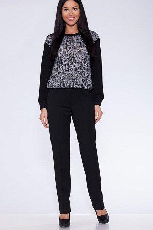 Стильные чёрные брюки из плотной ткани