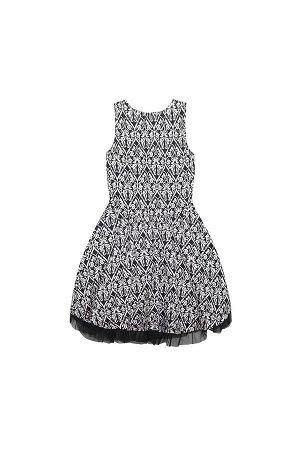 5436 платье/узор Эрмитаж на черном