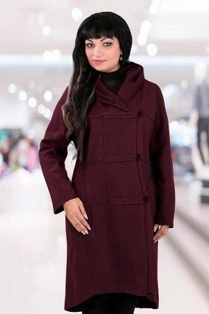 Белорусское пальто с капюшоном женскоебордовый