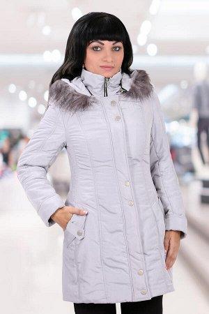 Белорусское пальто с капюшономсерый