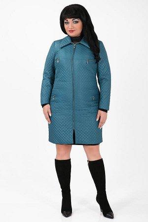 Белорусское пальто больших размеров женскоебирюзовый